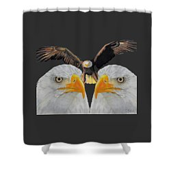Triple Eagle Shower Curtain by Bill Richards