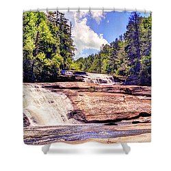 Triple Falls - Dupont Forest Shower Curtain