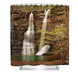 Triple Falls Landscape Shower Curtain by Tamyra Ayles