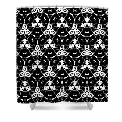 Triple Lace Shower Curtain