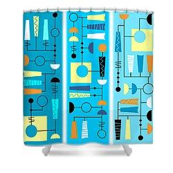 Triple Treat Shower Curtain by Tara Hutton