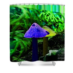 Trippy Shroom Shower Curtain