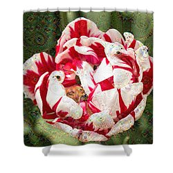 Trippy Tulip Shower Curtain by Cathy Donohoue