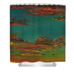 Triptych 3 Shower Curtain by Frances Marino