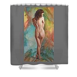 Trisha - Back View Shower Curtain