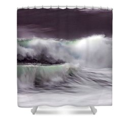 Tritan's Dance Shower Curtain by Donna Blackhall