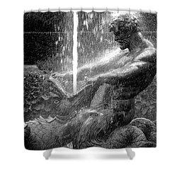 Triton Fountain Shower Curtain by Alex Galkin