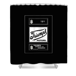 Triumph 1911 Shower Curtain by Mark Rogan
