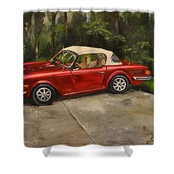 Shower Curtain featuring the painting Triumph by Lindsay Frost