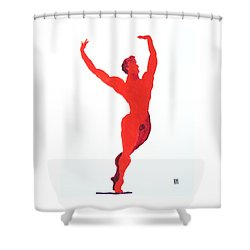 Triumphant Balance Shower Curtain