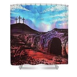 Shower Curtain featuring the painting Triumphant Life by Nathan Rhoads
