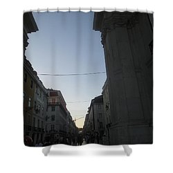 Triunphal Arc In Lisbon Shower Curtain