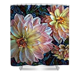 Trois Shower Curtain by Geri Glavis