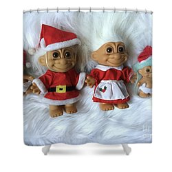 Troll Family Christmas 2015 Shower Curtain