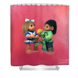 Troll Love Shower Curtain by Renee Trenholm