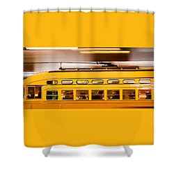 Trolley 1052 On The Move Shower Curtain