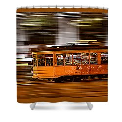 Trolley 1856 On The Move Shower Curtain