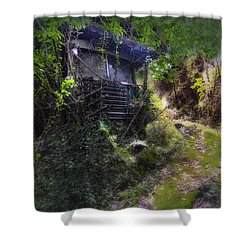 Trolley Bus Into The Jungle Shower Curtain