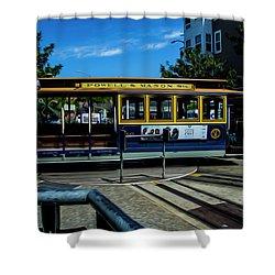 Trolley Car Turn Around Shower Curtain