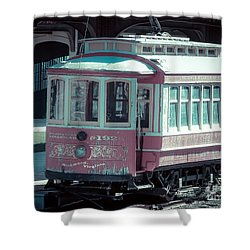 Shower Curtain featuring the photograph The Trolley by Melissa Messick