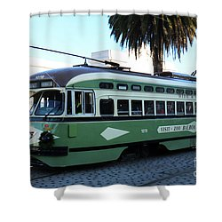 Trolley Number 1078 Shower Curtain