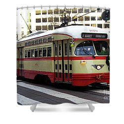 Trolley Number 1079 Shower Curtain