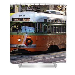 Trolley Number 1080 Shower Curtain by Steven Spak