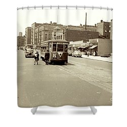 Trolley Time Shower Curtain