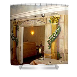 Shower Curtain featuring the painting Trompe L'oeil Entryway by Thomas Lupari