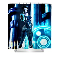 Tron Quorra Shower Curtain