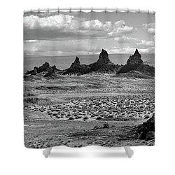Trona Pinnacles Peaks Shower Curtain