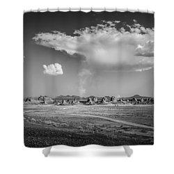 Trona Pinnacles Road  Shower Curtain