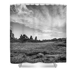 Trona Pinnacles Sky Shower Curtain