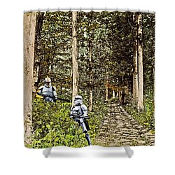 Troopers On The Planet Shower Curtain