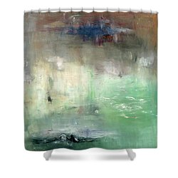 Shower Curtain featuring the painting Tropic Waters by Michal Mitak Mahgerefteh