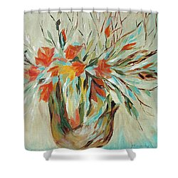Shower Curtain featuring the painting Tropical Arrangement by Joanne Smoley