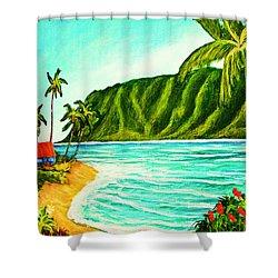Tropical Beach #361 Shower Curtain by Donald k Hall
