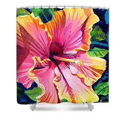Tropical Bliss Hibiscus Shower Curtain