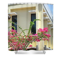 Tropical Bougainvillea Shower Curtain