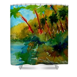 Tropical Canal Shower Curtain