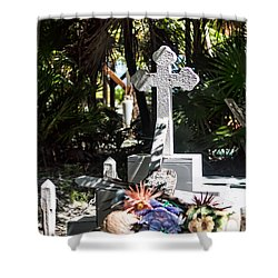 Shower Curtain featuring the photograph Tropical Cemetery by Lawrence Burry