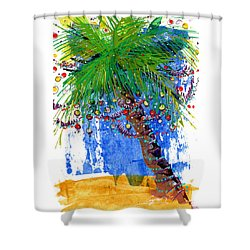 Tropical Christmas  Shower Curtain