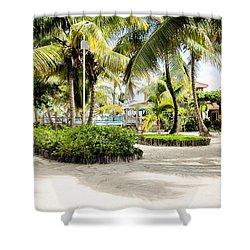 Tropical Courtyard Shower Curtain