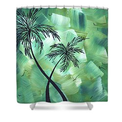 Tropical Dance 3 By Madart Shower Curtain by Megan Duncanson