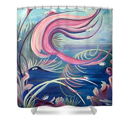 Shower Curtain featuring the painting Tropical Dancer by Renate Nadi Wesley