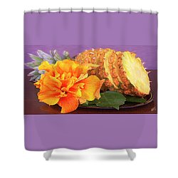 Shower Curtain featuring the photograph Tropical Delight Still Life by Ben and Raisa Gertsberg
