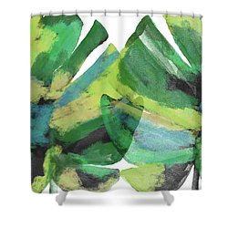 Shower Curtain featuring the mixed media Tropical Dreams 1- Art By Linda Woods by Linda Woods