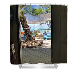 Tropical Entrance Shower Curtain