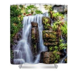 Tropical Falls Shower Curtain