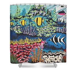 Tropical Fish Colors Shower Curtain by Jeffrey Koss